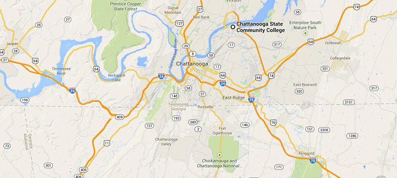 Campus Map Area Map and Directions Chattanooga State Community