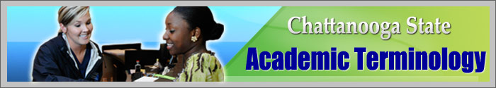 Academic Terminology Banner